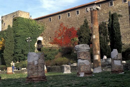 Stock Photo: 4261-10818 San Giusto castle, Trieste, Friuli Venezia Giulia, Italy