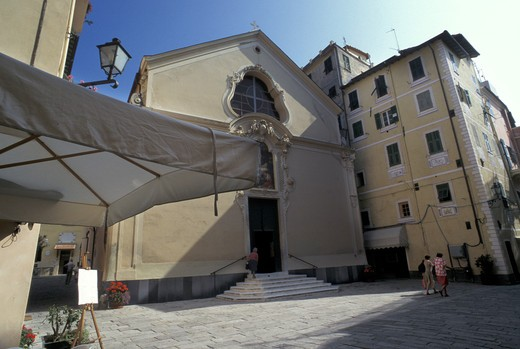 Santa Maria Maddalena church, Bordighera, Ligury, Italy : Stock Photo