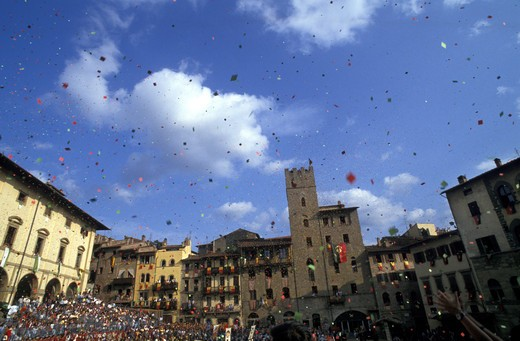 Giostra del Saracino feast, Arezzo, Tuscany, Italy : Stock Photo