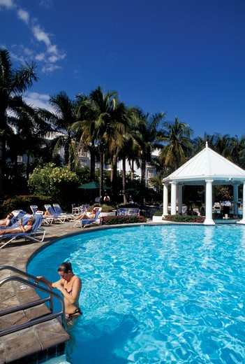 Hyatt Regency hotel, Grand Cayman island, Cayman Islands, West Indies, Central America : Stock Photo