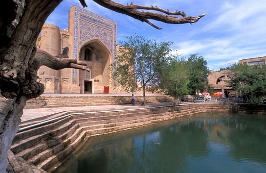 Stock Photo: 4261-12285 Labi Hauz square and Hoja Nasruddin monument, Bukhara city, Republic of Uzbekistan, Central Asia, Asia