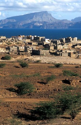 Stock Photo: 4261-12614 San Antao port and village, Cape Verde Islands, Africa