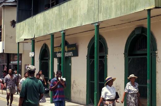 Stock Photo: 4261-12754 Foreshortening, Vittoria, Mahé island, Seychelles, Indian Ocean, Africa