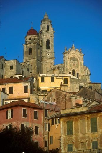 Cityscape, Cervo Ligure, Liguria, Italy : Stock Photo