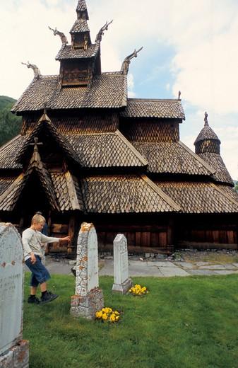 Stave Church, Burgund, Norway, Europe : Stock Photo