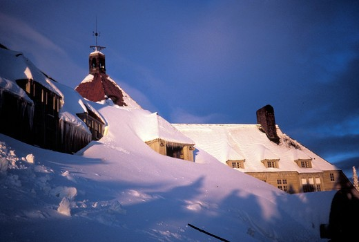 Stock Photo: 4261-13311 Hotel, Timberline Lodge, Oregon, USA, America