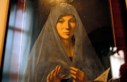 Virgin Annunciate, Antonello da Messina, Palermo, Sicily, Italy, Europe : Stock Photo