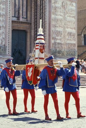 Corpus Domini procession, Orvieto, Umbria, Italy : Stock Photo