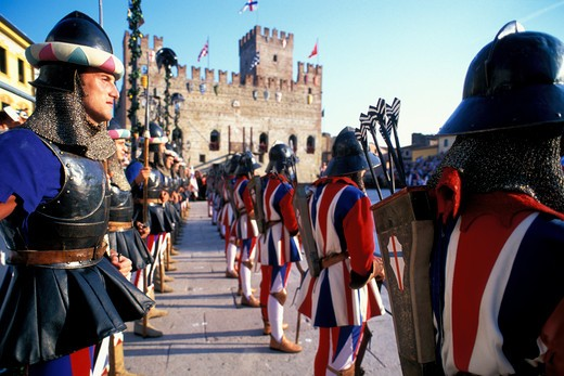 Stock Photo: 4261-14806 Living game of chess, Marostica, Veneto, Italy