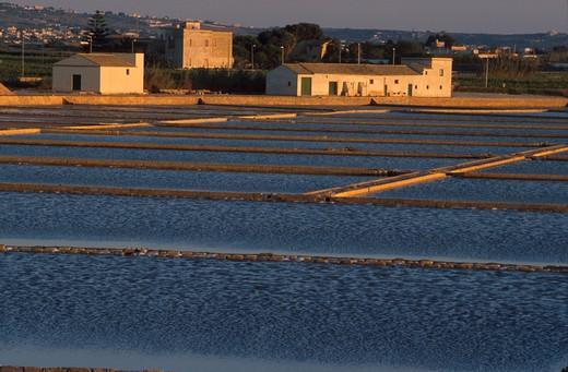 Stock Photo: 4261-1517 Saltworks, Marsala, Sicily, Italy