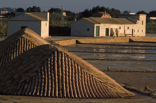 Stock Photo: 4261-1521 Saltworks, Marsala, Sicily, Italy