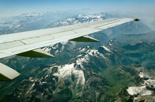 Stock Photo: 4261-16015 swiss alps from an aeroplane, switzerland, switzerland
