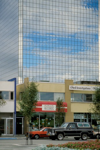 downtown, anchorage, usa : Stock Photo