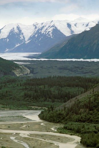 Stock Photo: 4261-17897 glacier, matanuska glacier, usa