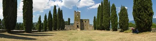 Stock Photo: 4261-18052 romena castle, stia, italy
