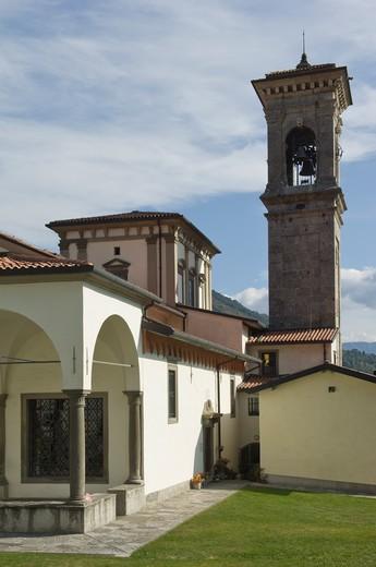 madonna della torre sanctuary, sovere, italy : Stock Photo