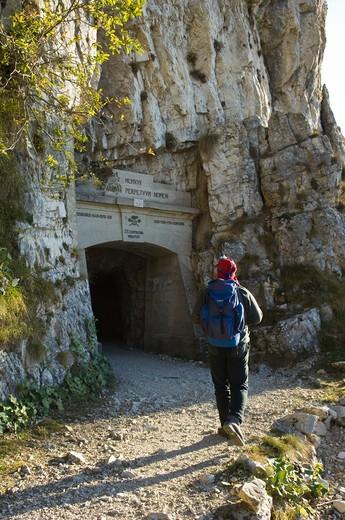 Stock Photo: 4261-18732 strada delle 52 gallerie, pasubio mountain, italy