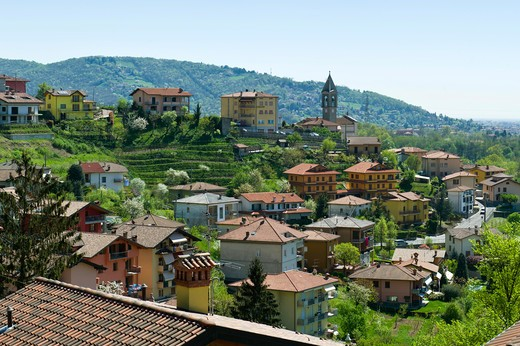 Bruntino village view, Villa d'Almè, Lombardy, Italy : Stock Photo