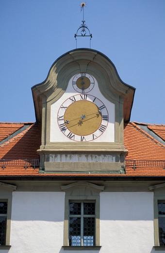 clock saint magnus monastery, fussen, germany : Stock Photo