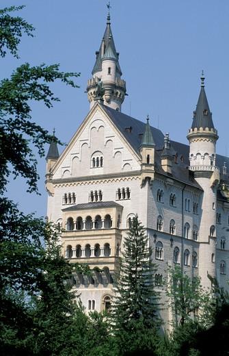 Stock Photo: 4261-21341 neuschwastein castle, fussen, germany