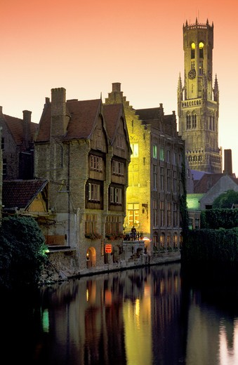 historic centre glimpse, bruges, belgium : Stock Photo