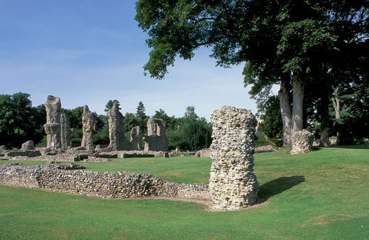 magna charta abbey ruins, bury st. edmunds, great britain : Stock Photo
