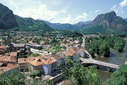 small town view, tarascon, france : Stock Photo