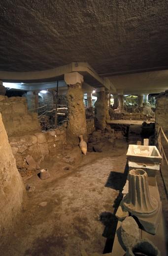 Stock Photo: 4261-2200 Archaeological excavations at Santa Restituta church, Ischia, Campania, Italy.