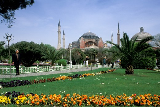 Stock Photo: 4261-22078 saint sophia mosque, istanbul, turkey