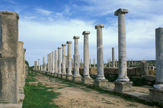 perge ruins, antalya, turkey : Stock Photo