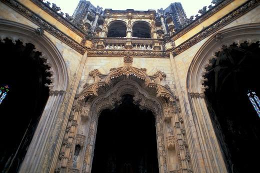 saint mary monastery, batalha, portugal : Stock Photo