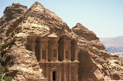 the monastery, petra, jordan : Stock Photo
