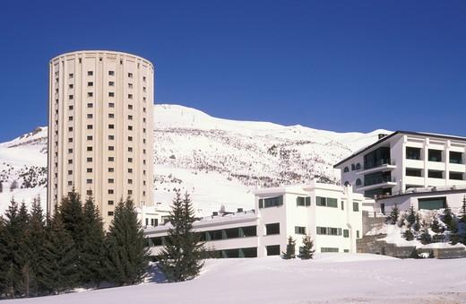 duchi d'aosta hotel, sestriere, italy : Stock Photo