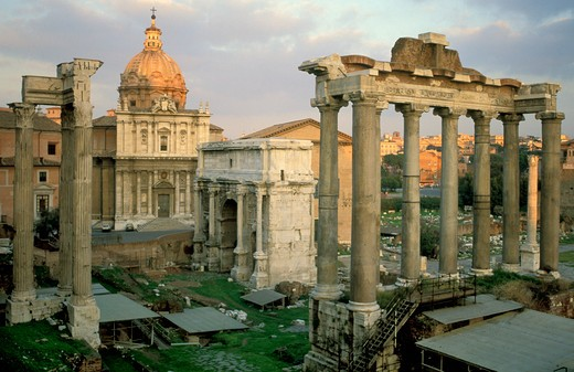 Stock Photo: 4261-22510 imperial forums, rome, Italy