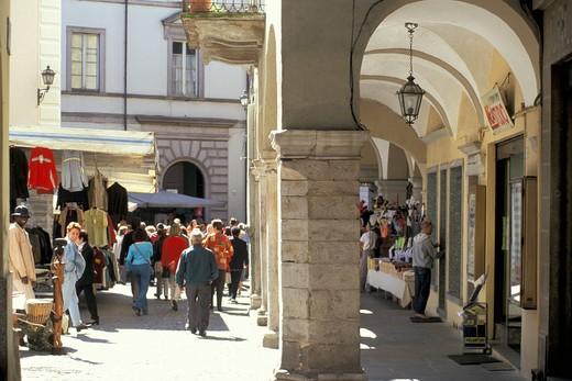 Stock Photo: 4261-22852 piazza del mercato, domodossola, Italy