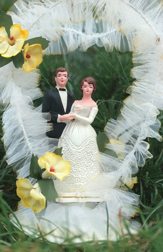 Stock Photo: 4261-23042 wedding cake decoration, villa di serio, Italy