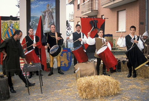 rapule' s feast, calosso, Italy : Stock Photo