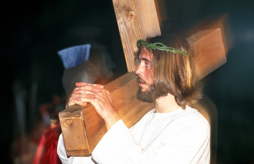 Stock Photo: 4261-24128 good friday procession, manciano, italy