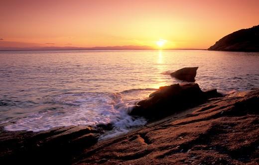 Stock Photo: 4261-24168 sunset, elba chiessi, italy