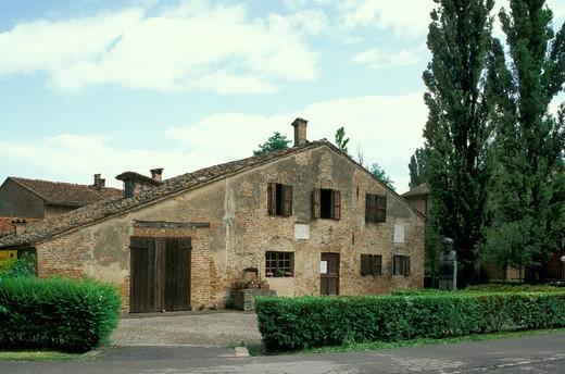 giuseppe verdi's native house, busseto, italy : Stock Photo