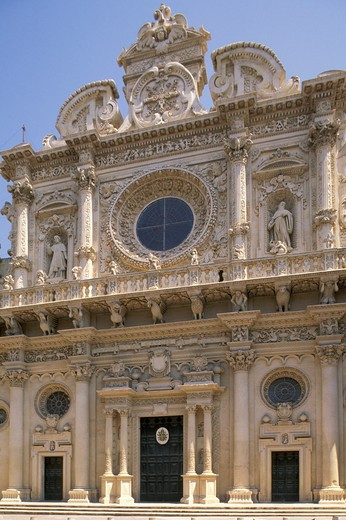 santa croce church, lecce, Italy : Stock Photo