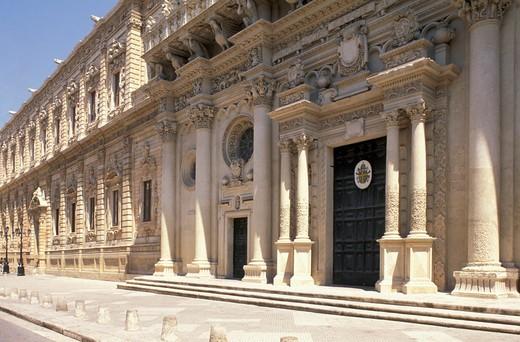Stock Photo: 4261-24806 santa croce church and palazzo del governo, lecce, Italy