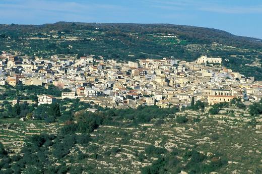 Stock Photo: 4261-25026 village view, ferla, Italy