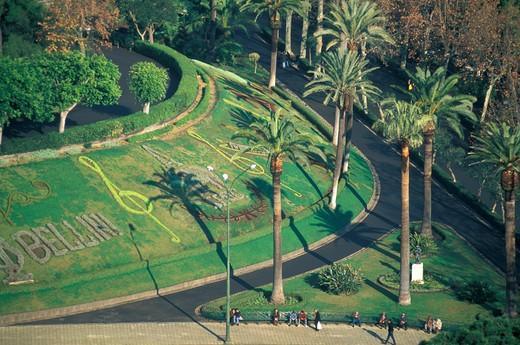 villa bellini gardens, catania, Italy : Stock Photo