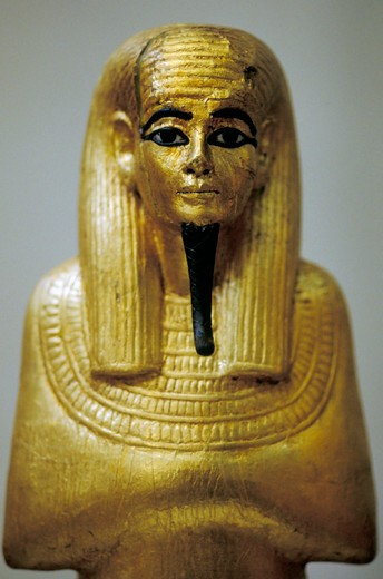 little statue, tutankhamun's tomb, cairo, egypt : Stock Photo