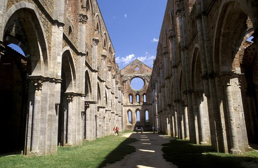 Abbey of San Galgano, Chiusdino, Tuscany, Italy. : Stock Photo
