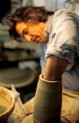 Moulding, San Giorgio factory, Albisola, LIgury, Italy : Stock Photo
