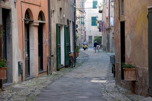 Stock Photo: 4261-26730 Alley, Final Borgo, Ligury, Italy