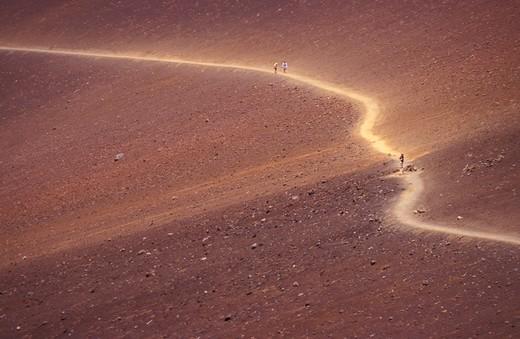 Sliding Sands, Haleakala national park, Maui island, Hawaii, United States of America, North America : Stock Photo