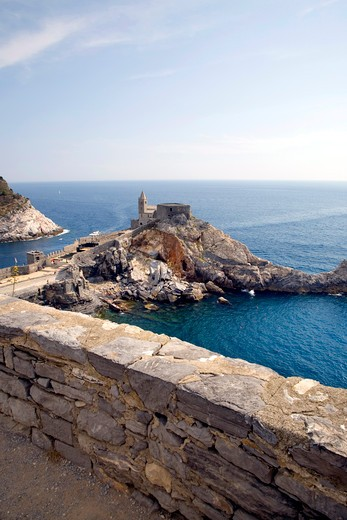 San Pietro church, Portovenere, Ligury, Italy : Stock Photo